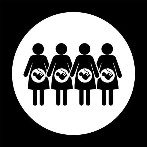 Symbol für schwangere Frau vektor