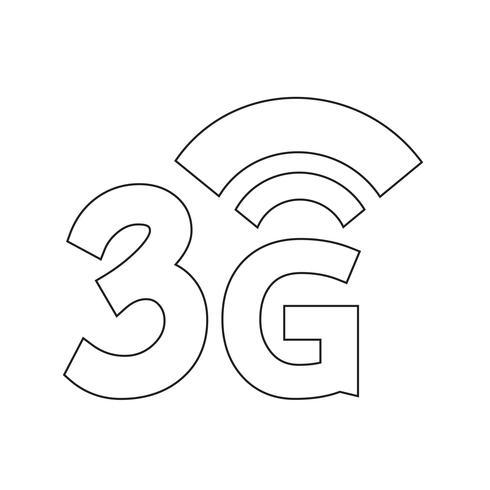 3G Wireless Wifi-ikon vektor