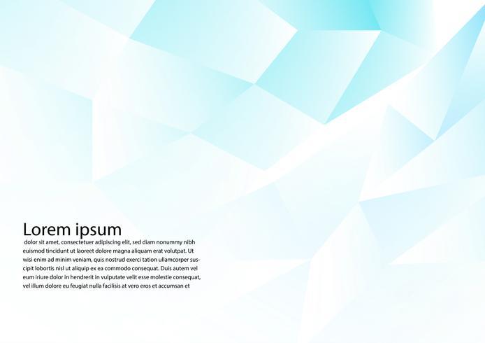 Vit och blå färg polygon abstrakt bakgrund, vektor illustration modern design