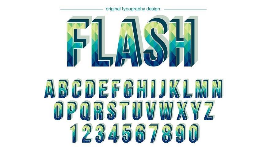 Bunter Typografie-Entwurf vektor