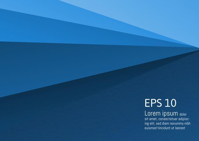 Abstrakt blå geometrisk bakgrund modern design med kopia utrymme, vektor illustration