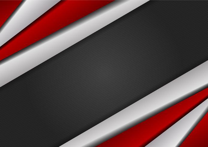 Modernes Design des roten und silbernen Farbgeometrischen abstrakten Hintergrundes mit Kopienraum, Vektorillustration vektor
