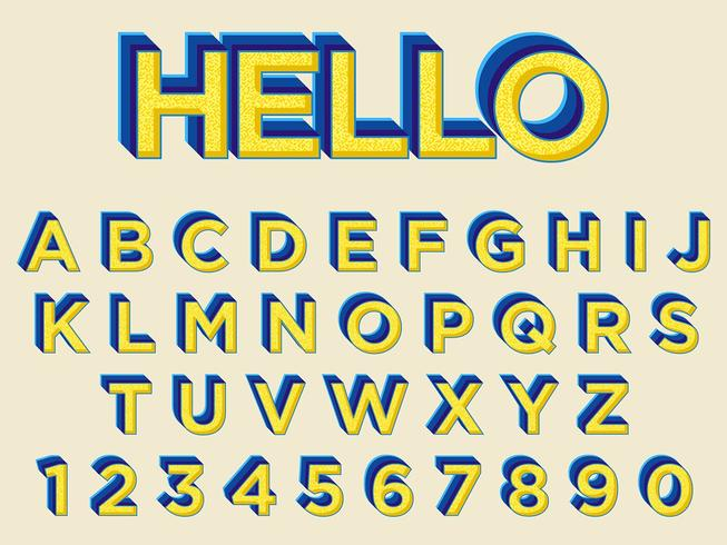 Gul Bold Typography Design vektor