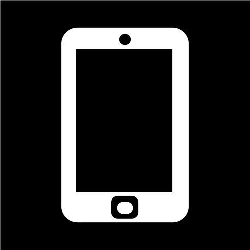 smartphone ikon vektor illustration