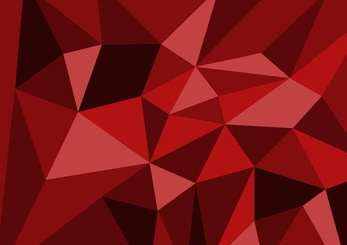 Röd färgpolygon abstrakt bakgrundsteknik modern, Vektor illustration med kopia utrymme