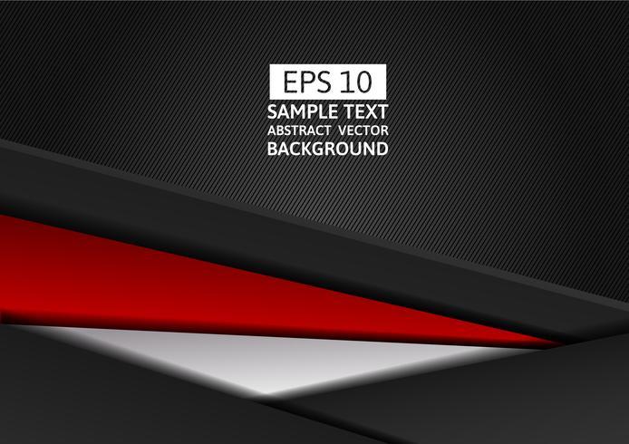Röd och svart färg geometrisk abstrakt vektor bakgrund modern design med kopia utrymme för din verksamhet
