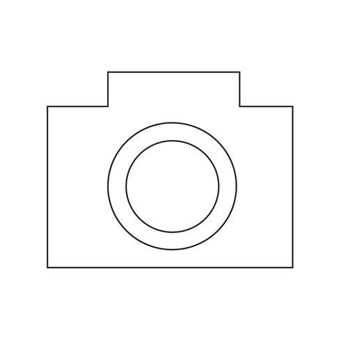 Kamera ikon vektor illustration