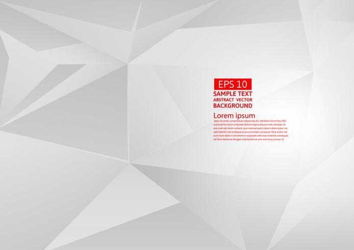 Abstrakter geometrischer grauer und weißer Farbhintergrund mit Kopienraum, Vektorillustration eps10 vektor