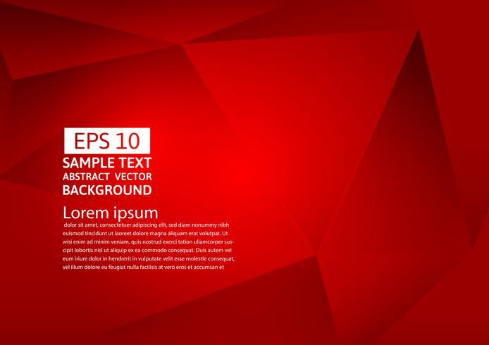 Abstrakter geometrischer rote Farbhintergrund, Vektorillustration eps10 vektor