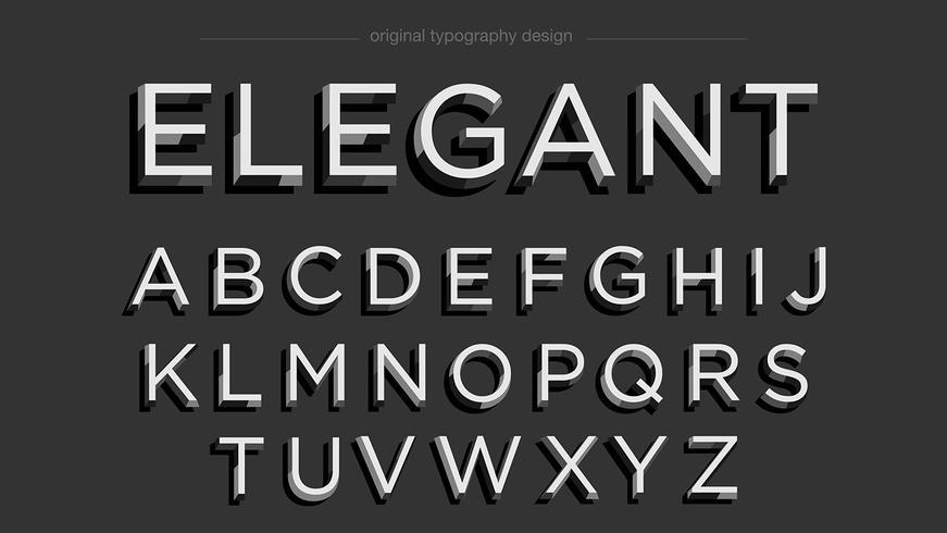 Svart fet typografi vektor