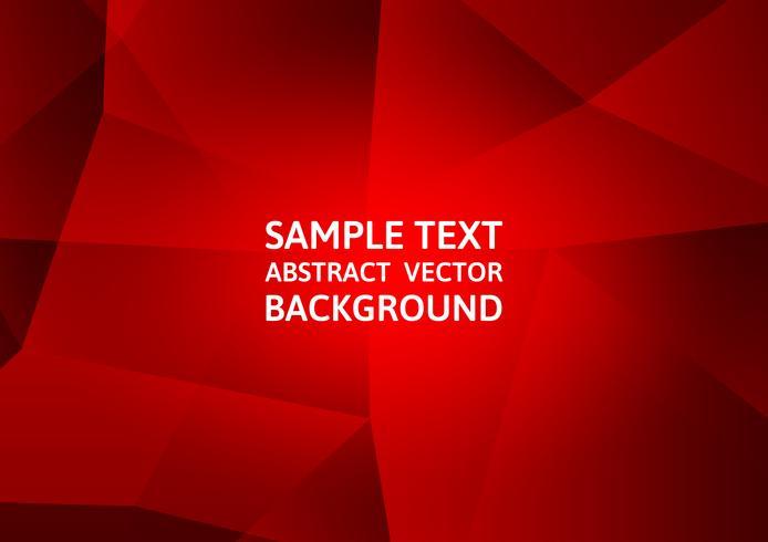 Modernes Design der rote Farbpolygonzusammenfassungshintergrund-Technologie, Vektor-Illustration vektor