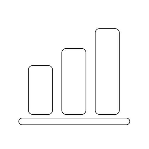 Einfache Diagrammdiagrammikonen-Vektorillustration vektor