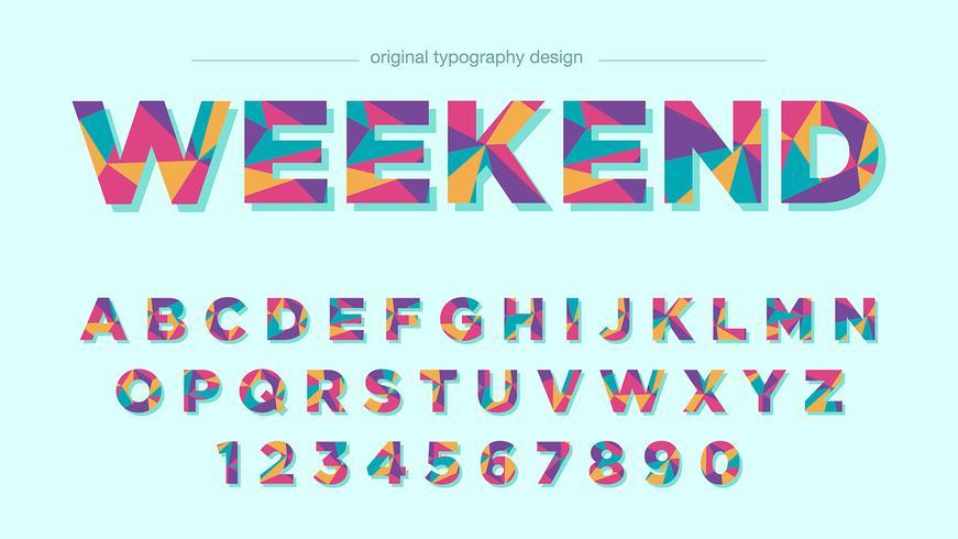 Färgrik Typografi Design vektor