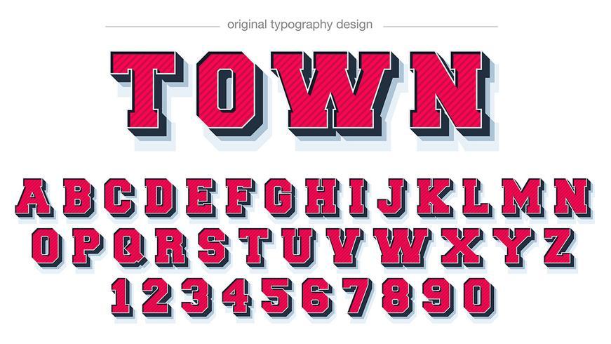 Fet rött blad typografi vektor