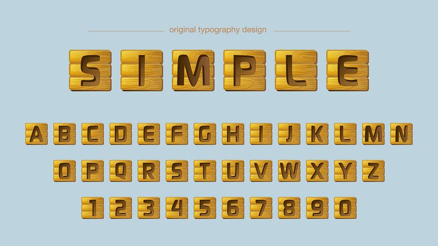 Träplattor typografi vektor