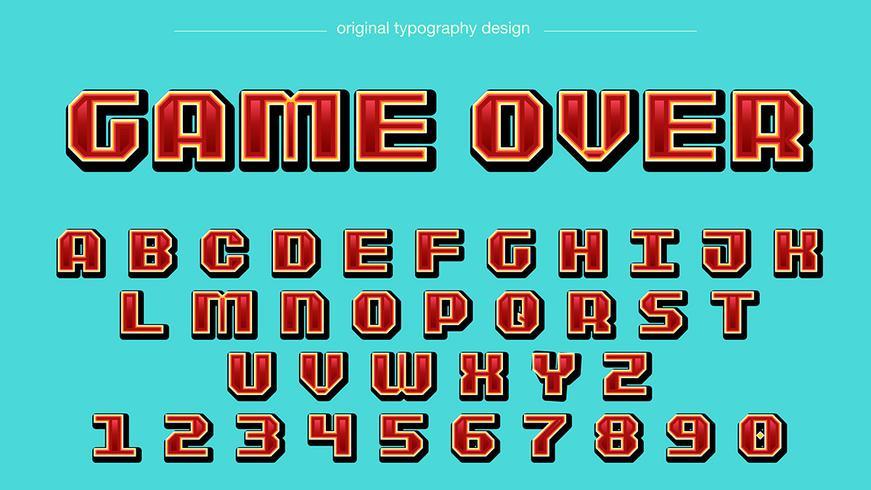 Red Pixel Square Typografi vektor