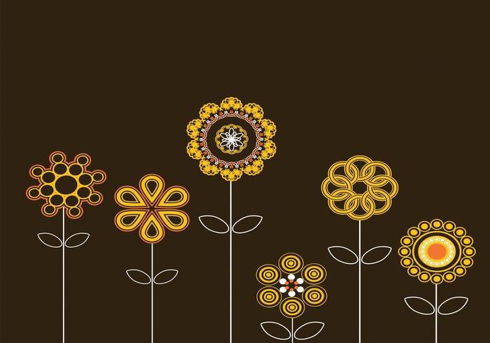Abstrakte Sonnenblumen-Vektoren vektor