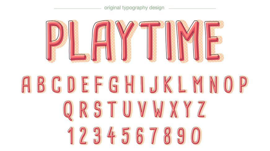Serier Ljusröd Typografi vektor