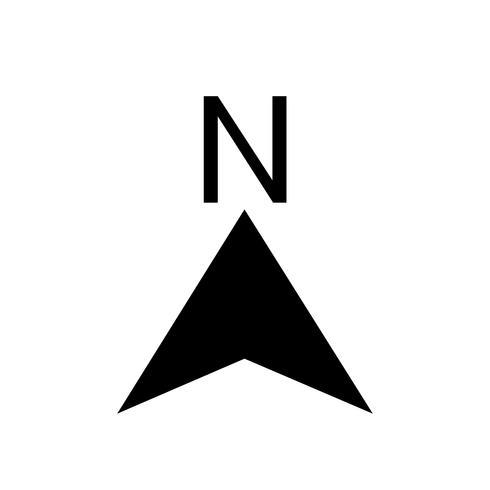 Nord ikon vektor illustration
