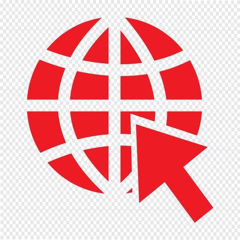 Gehen Sie zur Website-Internet-Ikonenvektorillustration vektor