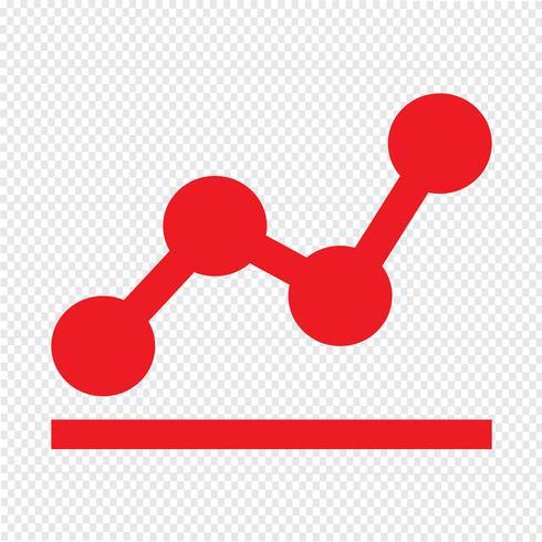 diagramdiagram ikon vektor illustration
