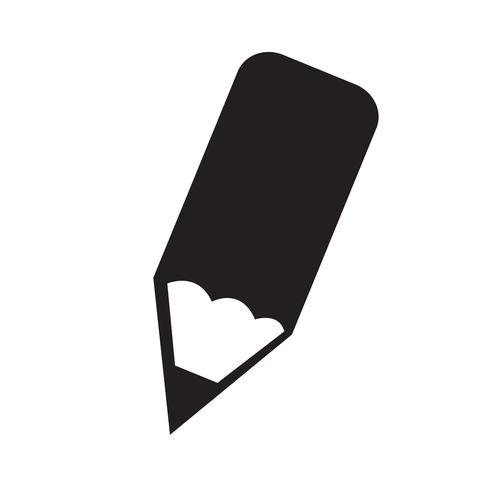 Bleistift-Symbol Vektor-Illustration vektor