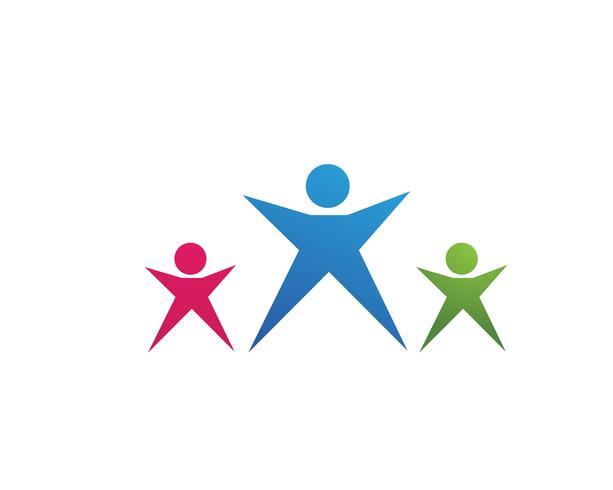 ledarskap framgång människor hälsa livet logotyp mall ikoner vektor