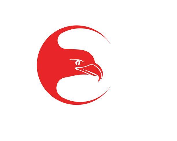 Eagle Wings-Vogelzeichen-Zusammenfassungsschablonen-Ikonen-APP vektor