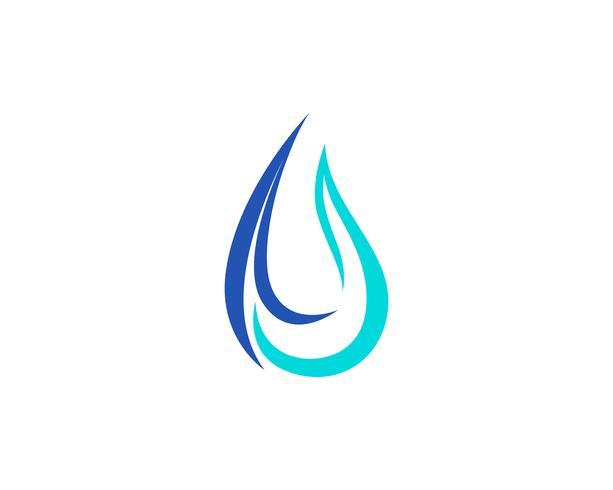 Vatten droppe vektorikonen vektor