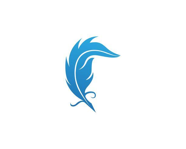 Fjärrpenna skriv skylt logotyp mall app ikoner vektor