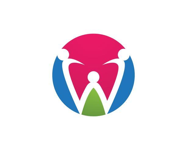 Annahme und Gemeindepflege Logo Vorlage Vektor Icon