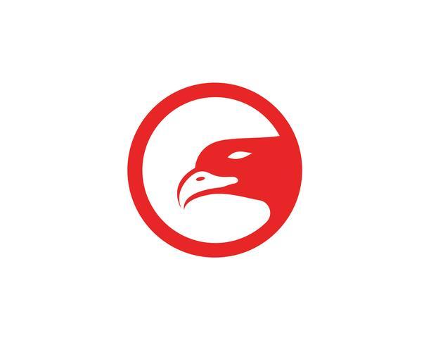 Eagle Wings fågel underteckna abstrakt mall ikoner app vektor