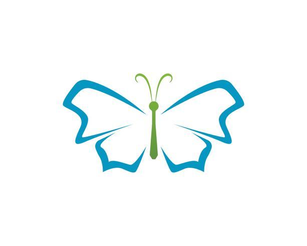 Schmetterlingsschönheitslogo einfache, bunte Ikone. Logo. Vektor-illustration vektor