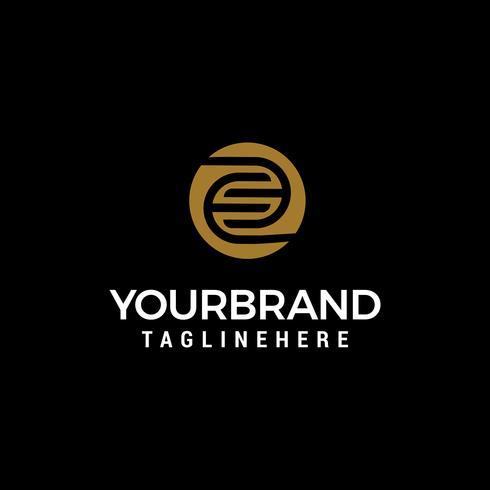brev E kapital logo designkoncept mall vektor