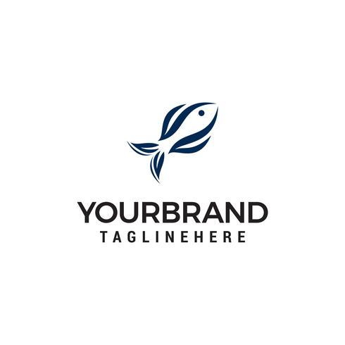 Fisch abstrakte Logo-Design-Konzept-Vorlage Vektor