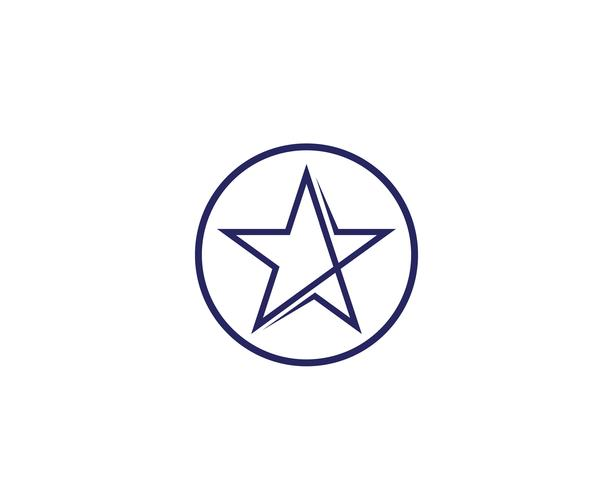 Star logo vektor ikon illustration design