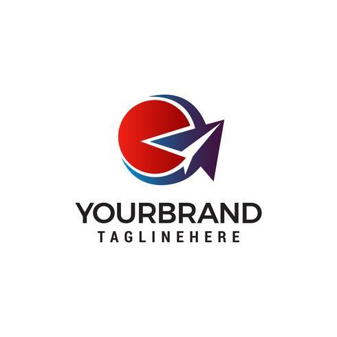 pappersplan logo design koncept mall vektor
