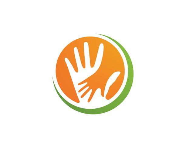 Hand Team Freunde Community-Logo und Symbole vektor