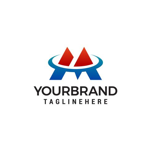 Buchstabe M Tech Logo Design Konzept Vorlage Vektor