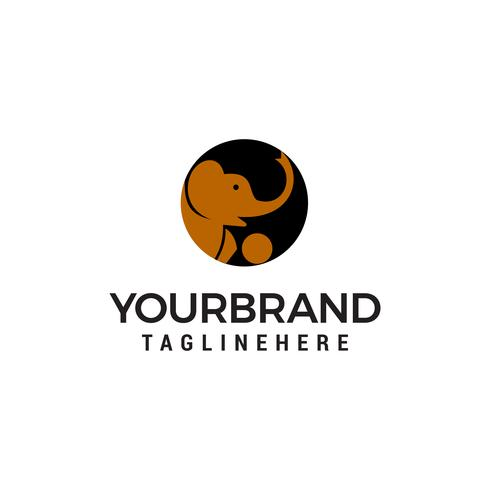 Kopf Elefant Logo Design Konzept Vorlage Vektor