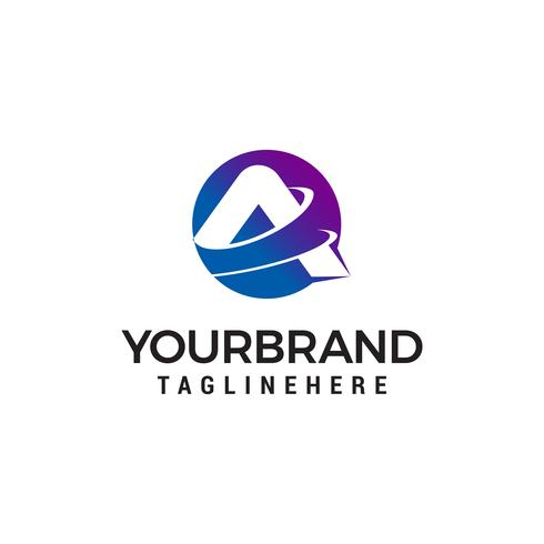 Buchstabe A Logo-Design-Konzept Vorlage Vektor