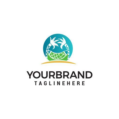 Strand Logo Design Konzept Vorlage Vektor