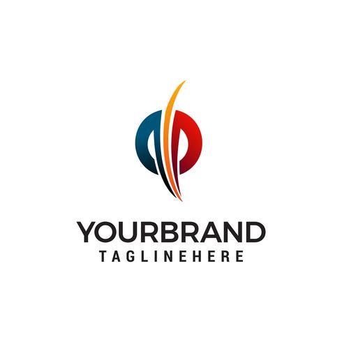 Buchstabe pp Logo Design Konzept Vorlage Vektor