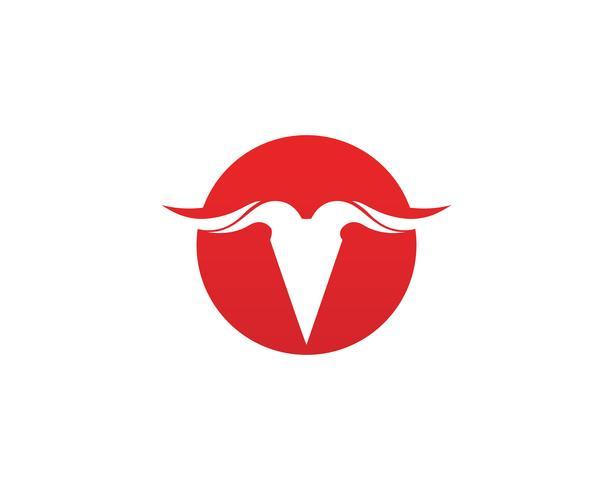 Bull hornsymbol och symboler mallikoner app vektor