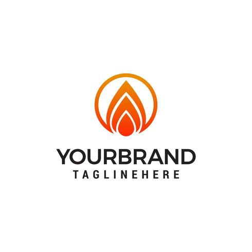 Feuer Flamme Logo Design Konzept Vorlage Vektor