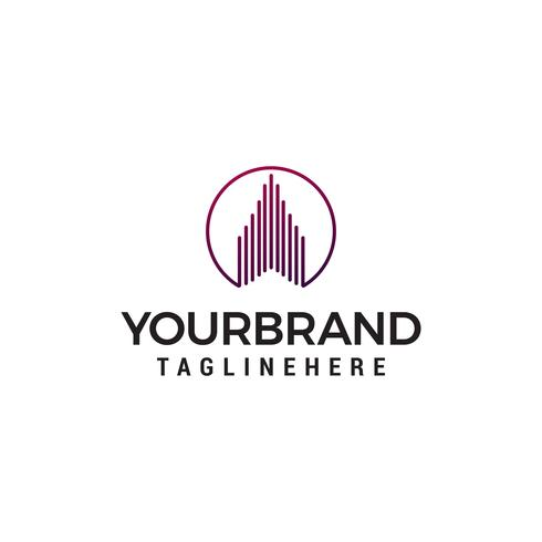 Immobilien Logo Design Konzept Vorlage Vektor