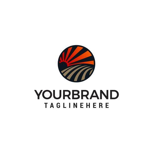 Landschaft Landwirtschaft Logo Design Konzept Vorlage Vektor