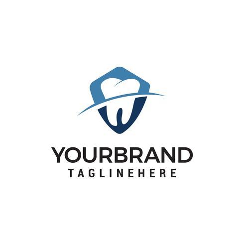 tandsköld logo design koncept mall vektor
