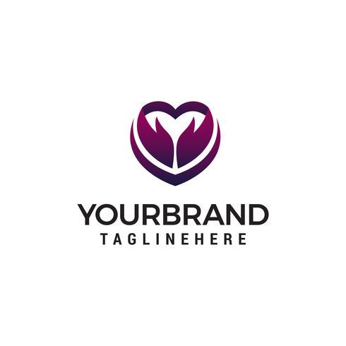 hjärta pil logotyp design koncept mall vektor
