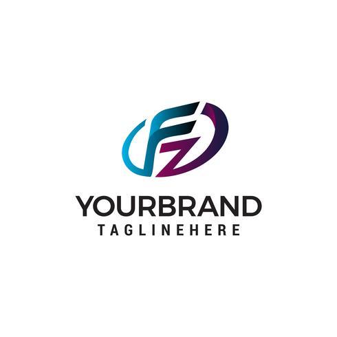 brev fz logo design koncept mall vektor